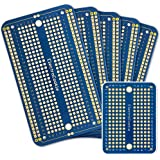 ElectroCookie Solderable Breadboard PCB Board for Arduino and Electronics Projects, Gold-Plated (5 Pack + 1 Mini Board, Blue)