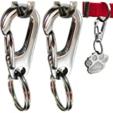 Sundesign Stainless Steel Pet Tag Quick Clips - for Medium and Large Dog Collars