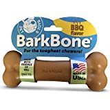 Pet Qwerks BBQ Flavor Infused BarkBone - Durable Toys for Aggressive Chewers, Tough Indestructible Extreme Power Chewer Bones