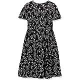 Calvin Klein Womens Plus Size Short Sleeve A-line Midi Dress Short Sleeve Dress - Multi - 14W Cream/Black