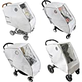 Baby Stroller Rain Cover - Provides Extra Warmth and Shields your Child from Wind and Rain. Universal Size, Mesh Material for