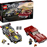 LEGO 76903 Speed Champions Chevrolet Corvette C8.R Race Car and 1968 CC Racing Cars Toys for 8+ Years Old, 2 Sports Models Bu