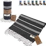 Smyrna Classical Series Original Turkish Beach Towel | 100% Cotton, Prewashed, 37 x 71 Inches | Peshtemal and Turkish Bath To