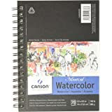 Canson Artist Series Montval Watercolor Paper Pad, Heavyweight Cold Press and Micro-Perforated, Side Wire Bound, 140 Pound, 5