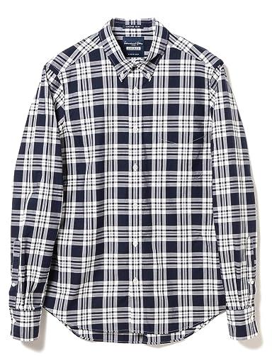 Plaid Buttondown Shirt 11-11-3875-107: Navy
