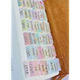 Decorative Bible Tabs - Gold Foil - Laminated - Indexing - Journaling - 66 Book Tabs - 9 Blank Tabs