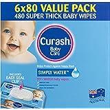 Curash Water Baby Wipes 6X80 PK