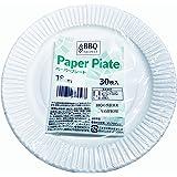 紙皿 ペーパープレート 使い捨て 18cm 30枚入 BBQ ベストプライス 全国送料無料 配送追跡付き