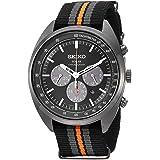 セイコーMen 's ' Recraftシリーズ' Quartzステンレススチールand Nylon Dress Watch, Color : Black (Model : ssc669)