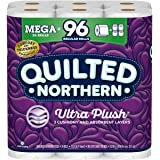 Quilted Northern Ultra PlushToilet Paper, 24 Mega Rolls = 96 Regular Rolls, 3-Ply Bath Tissue
