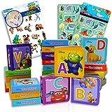 Disney Alphabet Book Bundle Disney Board Books Set ~ 26 Disney Pixar Alphabet Learning Books Disney Board Books For Toddlers