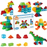 3D Magnetic Building Blocks 32pcs Set by STEAM Studio, Magnetic Tiles in Real 3D Geometric Shapes, Building & Construction To