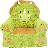 Soft Landing, Sweet Seats, Premium Green Triceratops, Children's Plush Chair (61326)