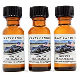 Crazy Candles (New Car Fragrance Oil 3 Bottles 1/2 Fl Oz Each (15ml) Premium Grade Scented Oil Made in USA (New car Smell and