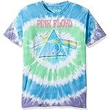 Liquid Blue Mens 11873-Mlt T Dy-XL Pink Floyd Dark Side Oil Paint Tie Dye Short Sleeve T-Shirt Short Sleeve T-Shirt - Multi