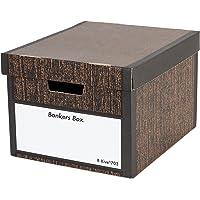 フェローズ バンカーズボックス 新703S A4サイズ 木目 3枚1セット 収納ボックス ふた付き 1006601