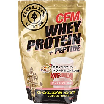 GOLD'S GYM ホエイプロテイン プラス ペプチド&ビタミンB ミックスベリー900g