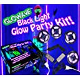 Black light glow party kit for large rooms 115W! 4 UV blacklight LED strips for neon parties, ultraviolet paint, Halloween, b