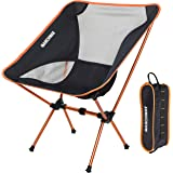 Ultralight Folding Camping Chair, Portable Compact for Outdoor Camp, Travel, Beach, Picnic, Festival, Hiking, Lightweight Bac