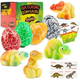 Dinosaur Hatching Eggs in Water Toys - 4 Pack Magic Dino Egg Hatchable Growing in Water for Science Educational Easter Party