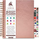 Clever Fox Budget Planner - Coiled Budget Book with Colorful Spacious Pages, Monthly Financial Planner, Budgeting Organizer &