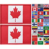 JBCD 2 Pack Canada Flag Patch Canadian Flags Tactical Patch Pride Flag Patch for Clothes Hat Patch Team Military Patch