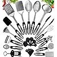 Home Hero Stainless Steel Kitchen Cooking Utensils - 25 Piece Kitchen Utensil Set - Nonstick Kitchen Utensils Cookware Set wi