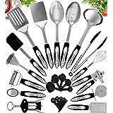 Home Hero Stainless Steel Kitchen Cooking Utensils - 25 Piece Utensil Set - Nonstick Kitchen Utensils Cookware Set with Spatu