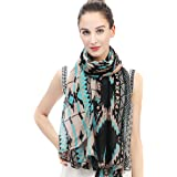 Lina & Lily Tribal Aztec Print Women's Large Scarf Lightweight