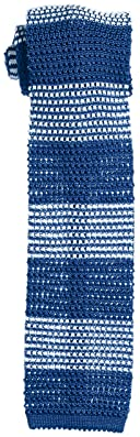 Stripe Silk Knit Tie 118-23-2422: Blue