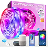15m LED Strip Lights Compatible with Alexa, Cozylady 15m WiFi LED Light Strips,Music Sync LED Strip Light Controlled by APP f