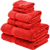Superior 900 GSM Luxury Bathroom 6-Piece Towel Set, Made of 100% Premium Long-Staple Combed Cotton, 2 Hotel & Spa Quality Was