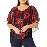 AGB Women's Plus Size Popover Top