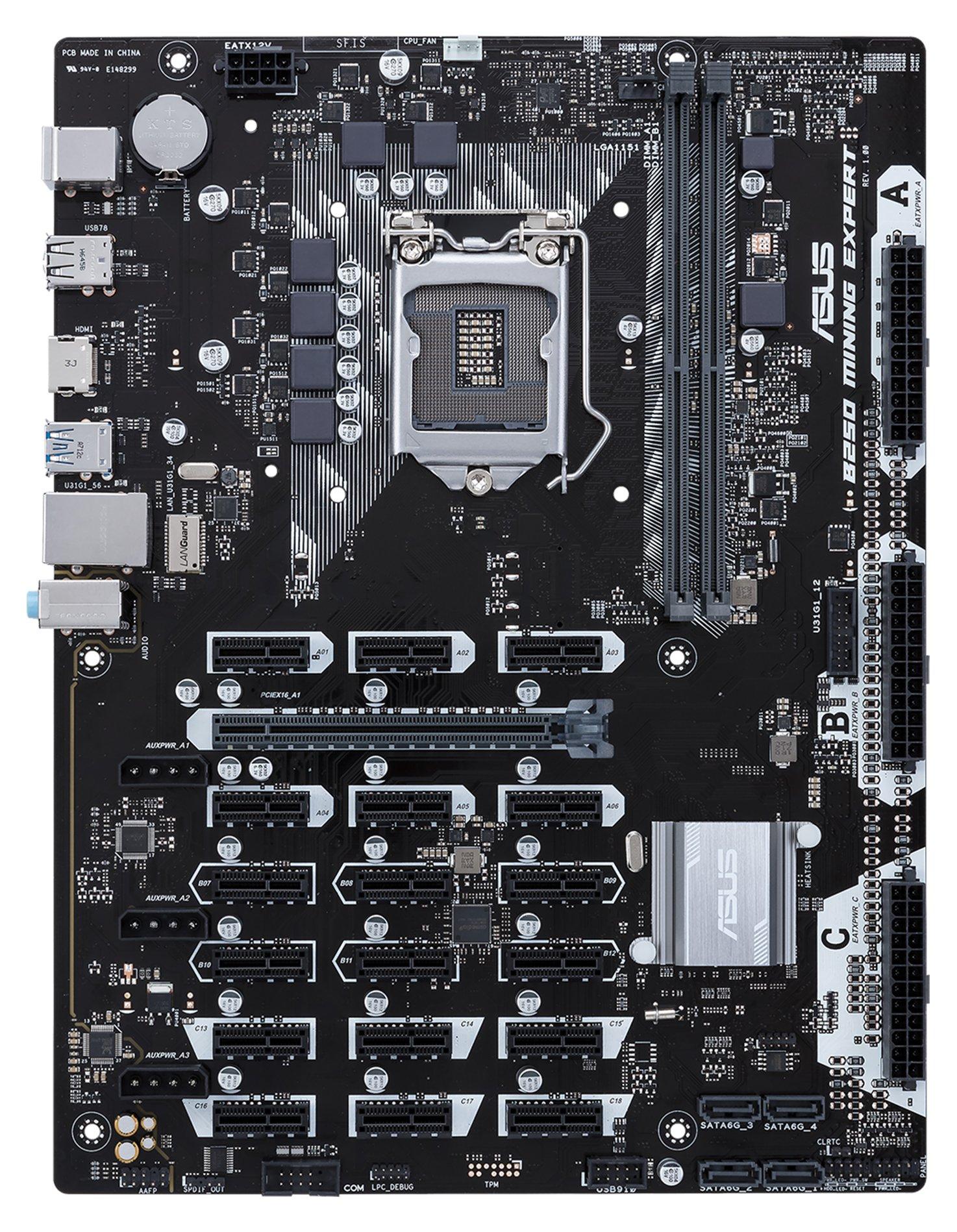 Intel B250 搭載 マザーボード LGA1151対応 B250 MINING EXPERT 【ATX】