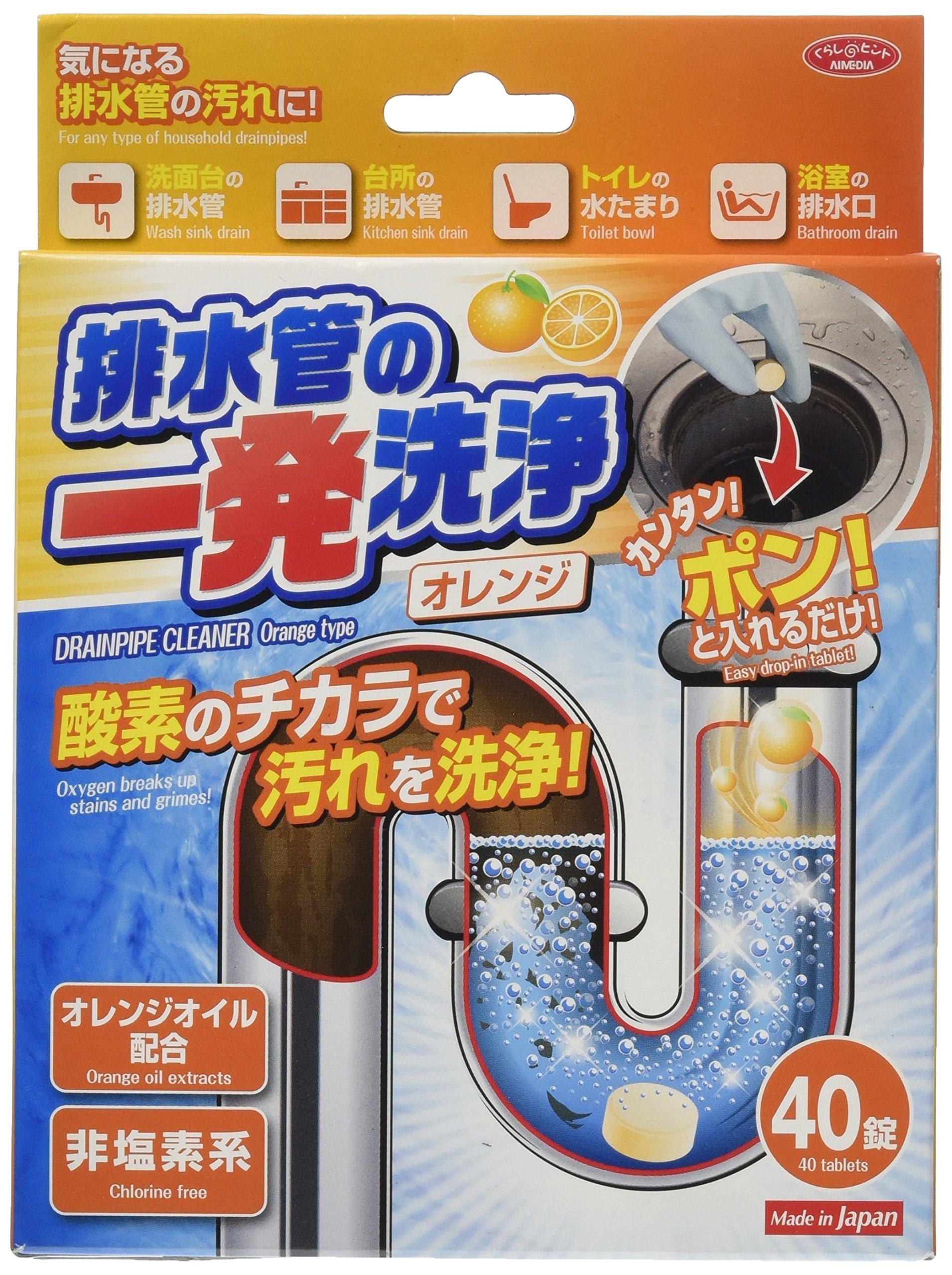 アイメディア 排水管の一発洗浄 オレンジタイプ 約4g*40錠