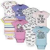 Onesies Brand Baby Girls' 8-Pack Short Sleeve Printed Bodysuits