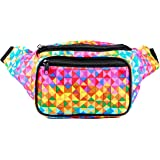 SoJourner Bum Bag Fanny Pack Waist Bag Rainbow Triangles | for women, men and kids | cute fits small medium large