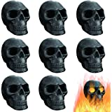 FYZTCOCPT Imitated Human Skull Gas Log for Indoor or Outdoor Fireplaces, Made of Metal, Durable for More Than 10 Years,Fire P