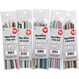 Keystone 11570 Sanding Twigs or Sticks Ideal for Woodworking Hobby Arts Crafts Models Mixed Grits and Lengths Cushioned Abras