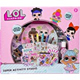 L.O.L. Surprise Super Activity Set Studio by Horizon Group USA, Sketch & Create with Stickers & Gemstones, Multicolor