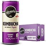 Remedy Organic Kombucha Ginger & Lemon Can, 250 ml (Pack of 24)