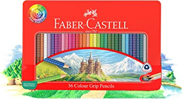 Faber-Castell 36 Colour Grip Pencils Gift Tin (16-116257)