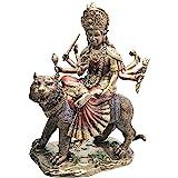 Eastern Enlightenment Durga On Tiger Statue Decorative Resin Piece