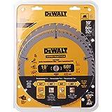 DEWALT DW3106P5 Saw Blade Construction Combo Pack 254MM X 32/60T (16MM), Metallic