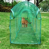 Foldable Cat Walk & Run Crawl Tunnel Toys Playing Tent Outdoor Breathable Mesh