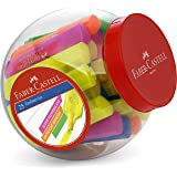 Faber-Castell Super Fluorescent Faber-Castell Textliner Ice Super Fluorescent Highlighter Marker 25 Pieces, Assorted, (57-480