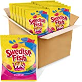 Swedish Fish Tails Candy, 3.6 Ounce Bags (Pack Of 12)