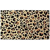 DII Indoor/Outdoor Natural Coir Fiber Spring/Summer Doormat, 18x30, Leopard Spots