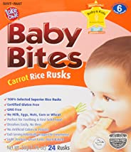 WANT WANT Take One Carrot Baby Bites, Solid Foods, 50g