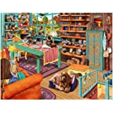 1000 Piece Puzzles for Adults - Difficult Jigsaw Puzzle for Adults Teenagers - Cozy Retreat Windowsill Cat - Challenging Jigs